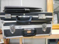 A flight case, brief case, attache' case etc.