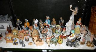 A good selection of pottery and porcelain and resin ornaments