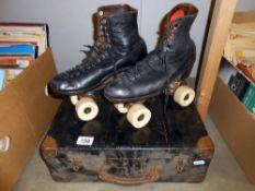 A pair of vintage Hamaco Gate figure master roller skates size 9,