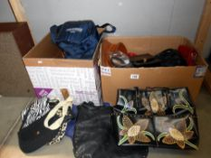 2 boxes of various ladies handbags