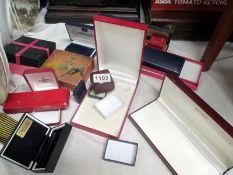 A quantity of empty jewellery boxes etc.