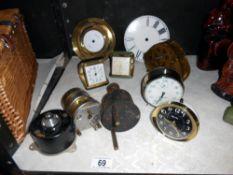 A quantity of clocks,