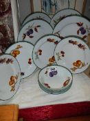 12 pieces of Royal Worcester 'Evesham Vale' pattern dinner ware.