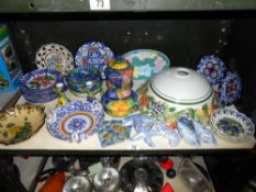 A selection of continental floral porcelain table ware and other items