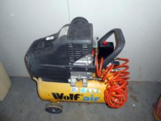 A Wolf air compressor 24 litre - Sioux 25, in working order (according to seller,