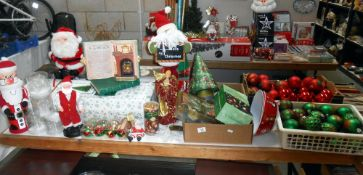 A good lot of Christmas decorations (only 274 days to go!) includes tree
