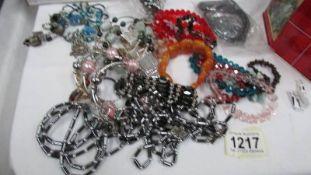 A mixed lot of bracelets etc.