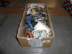 A box of costume jewellery (unsorted)