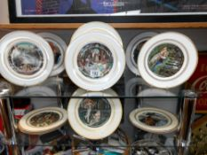 6 boxed Royal Worcester 'The King Arthur' plates and 6 unboxed (these 6 need cleaning)