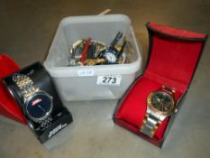 A box of wristwatches
