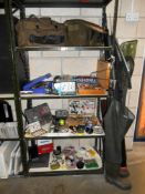 A good lot of fishing gear, includes, 8 fly fishing rods,course fishing rod, reels, spools,