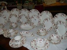 Approximately 30 pieces of Minton 'Ancestral' pattern dinnerware.