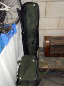 2 bags of fishing tackle including reels, floats etc.
