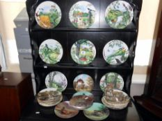 28 collectors cabinet plates by Wedgwood and Bradford exchange mostly boxed