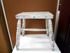 19/20th century painted wooden stool,