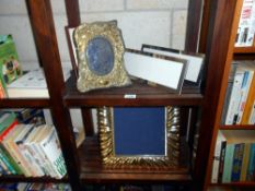 Lovely brass photo frame and a 4 others