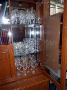 A good lot of French Crystal D'Arques, includes 4 sets of 6 glasses and 10 others,