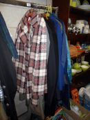 A quantity of casual jackets and overcoats etc.