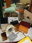 An mixed lot of purses, wig etc.