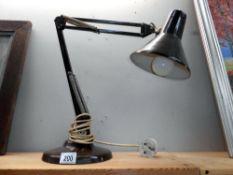 A heavy vintage angle poise lamp,