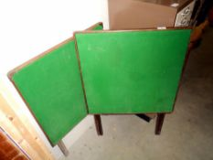 2 vintage folding card tables with green felt tops ****Condition report**** Wear &