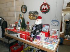 A good lot of Christmas decorations etc including many packs of new unopened Christmas cards,