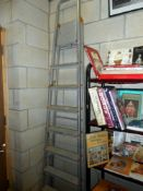 An aluminium step ladder