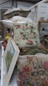 A mixed lot of good cushions including tapestry examples.