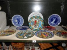 5 boxed Wedgwood King Arthur plates and 5 other Wedgwood and other collectors plates