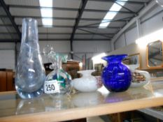 6 pieces of art glass