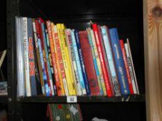 A quantity of childrens annuals including James Bond, Joe 90,
