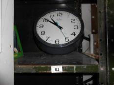 A large Quartz Acctime retro wall clock