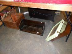Vintage Martell Cognac wooden box, jewellery display cabinet, book rest etc.