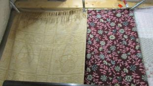 2 woven throws, 150 x 110 and 190 x 150 cms approximately.