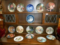 Bradford exchange wall plates, boxed with certificates, Knowles, Charles Gehm, RNLI, Coalport,