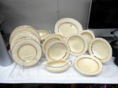 A Crown Ducal Florentine dinnerware set,