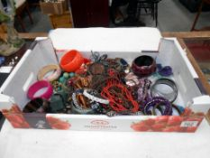 A selection of costume jewellery, bangles, necklaces etc.