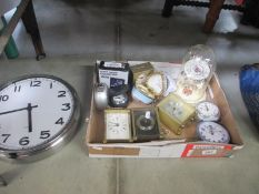 A mixed lot of mantle clocks and other clocks