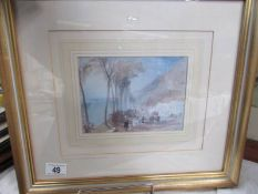 A framed and glazed J M W Turner (1775-1851) limited edition print (437/5000) entitled 'The Seine