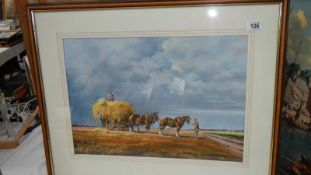 A good painting entitled 'Rain Approaching' by Maurice J Bush, 72 x 59 cm.