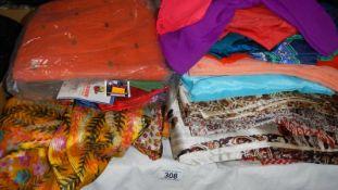 A quantity of sari fabric.