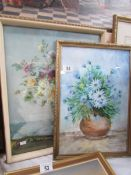 A framed and glazed Vernon Ward floral print and another signed Stan Langford.