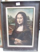 An early oak framed portrait of a lady (needs a clean), image 41.5 x 27 cm, framed 54.5 x 39.5 cm.