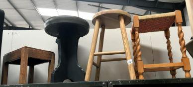 4 various stools