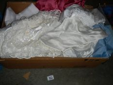 A quantity of silk and other items.