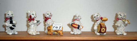 Italian made clay cat ornamental band