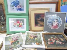 7 framed and glazed prints including examples by Sheila Fairman and Albert Williams.