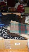 A mixed lot of men's scarves.
