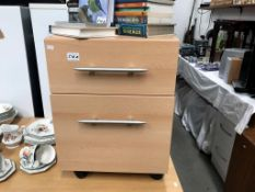 A 2 drawer office chest of drawers