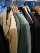 A quantity of 2 piece suits, blazers etc., Brands include Hector James, Westbrook, Jaques etc.